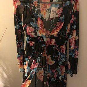 Forever 21 Tops - Forever 21 Sheer Floral Kimono